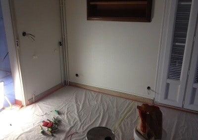installation semi-encastrée sous moulure électrique