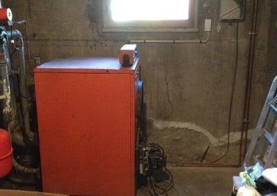 instalation d'un termostat sans fil sur chaudiere a fioul