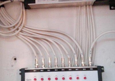 Antenne collective Commutateurs Autonomes 8 entrées Satellite + Terrestre ainsi qu'un amplificateur