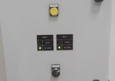 Coffret Electrique pour pilotage pompe a eau glacée afin de refroidir des machines industrielle